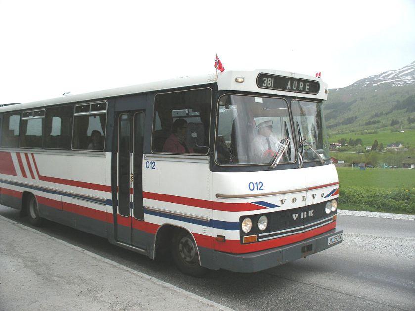 Volvo-buss med karosseri fra VBK, Aure.
