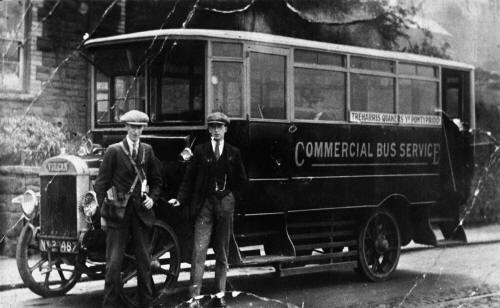 Vulcan Saloon Bus on the Treharris, Quakers Yard, Pontypridd service. Jones Brothers
