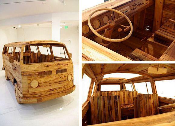 VW Hout bus
