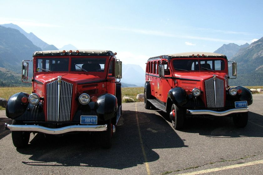 White Red Jammers Canada Alberta Waterton-Glacier International Peace Park Waterton Lakes National Park Waterton Prince of Wales Hotel