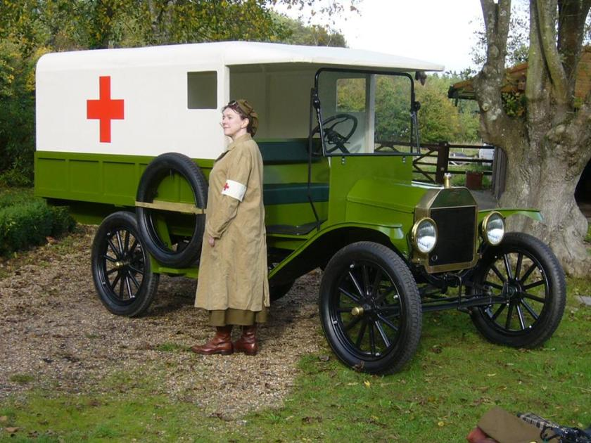 1916 Ford Model T Ambulance built by Richard Skinner of Tudor Wheels Ltd