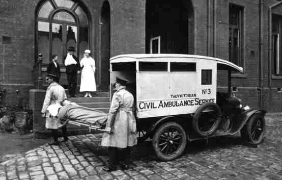 1916 Ford T Ambulances st Vincents web
