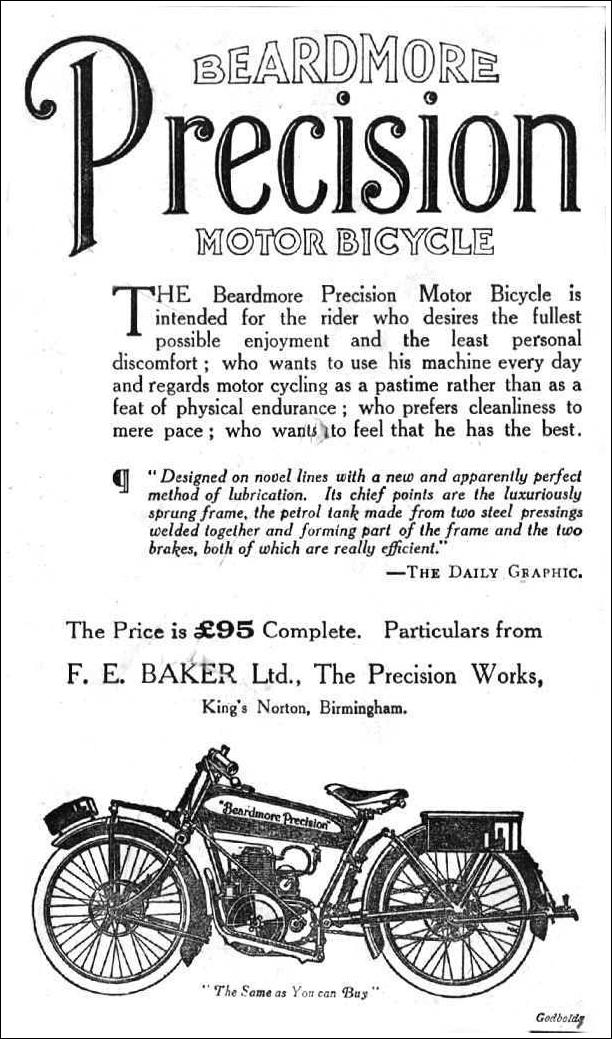 1925 Beardmore Precision advertentie