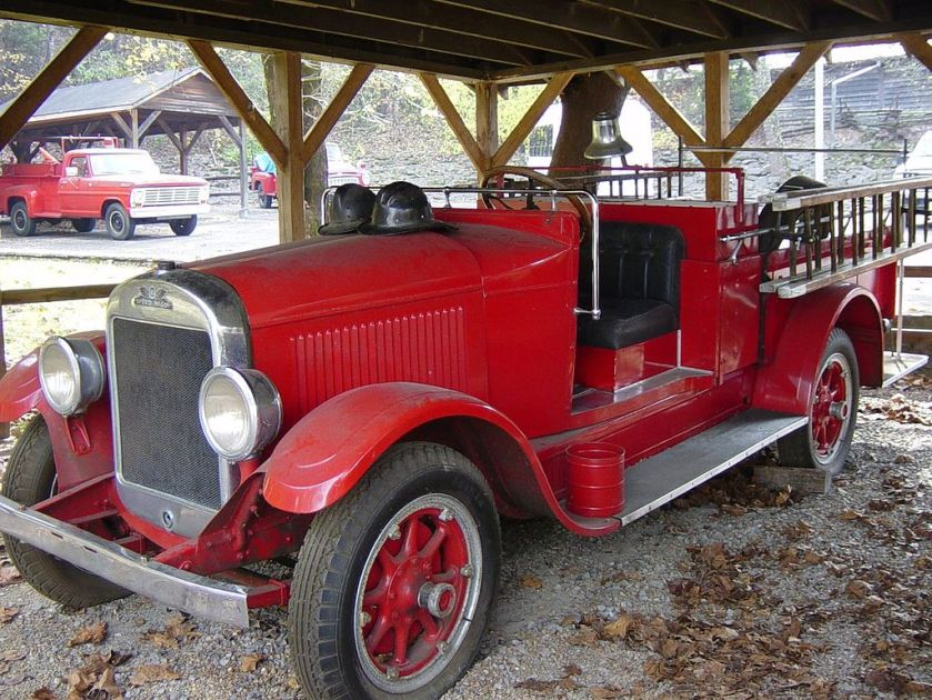 1925 REO Speed Wagon Fire Truck at Jack Daniel's Distillery, Lynchburg, Tennessee