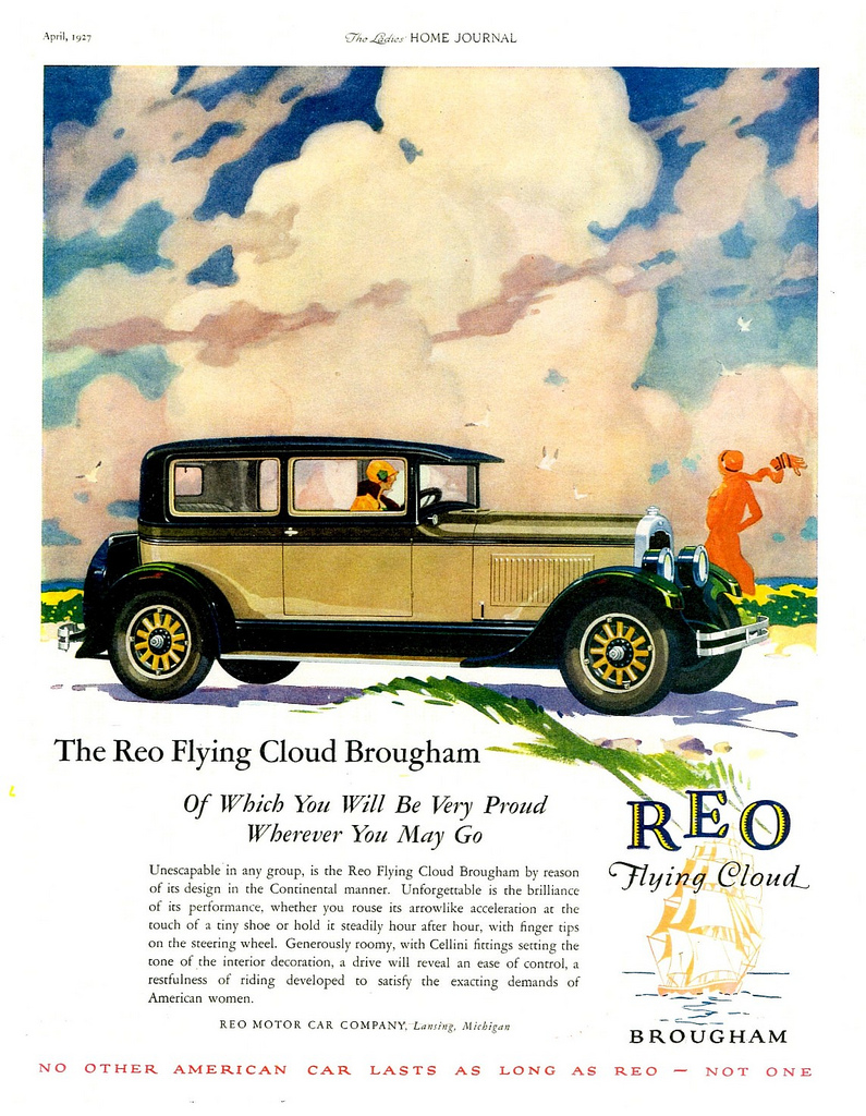 1927 Reo Flying Cloud Brougham Ad