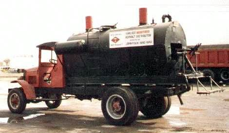 1928 Diamond T wood-fired Asphalt Distributor 4cyl Hercules engine