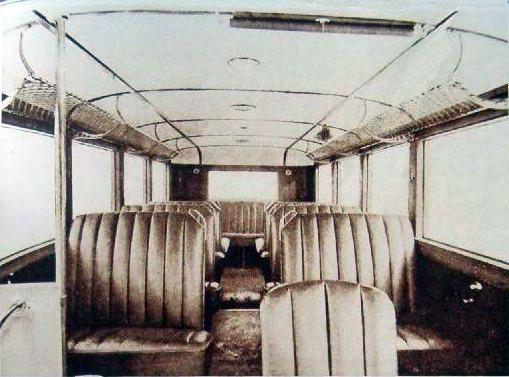 1929 Reo bus interior