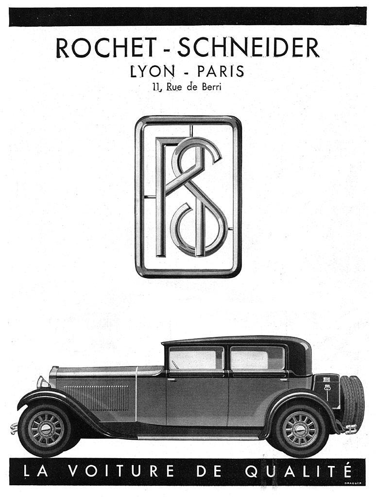 1930 Rochet-Schneider-ad F