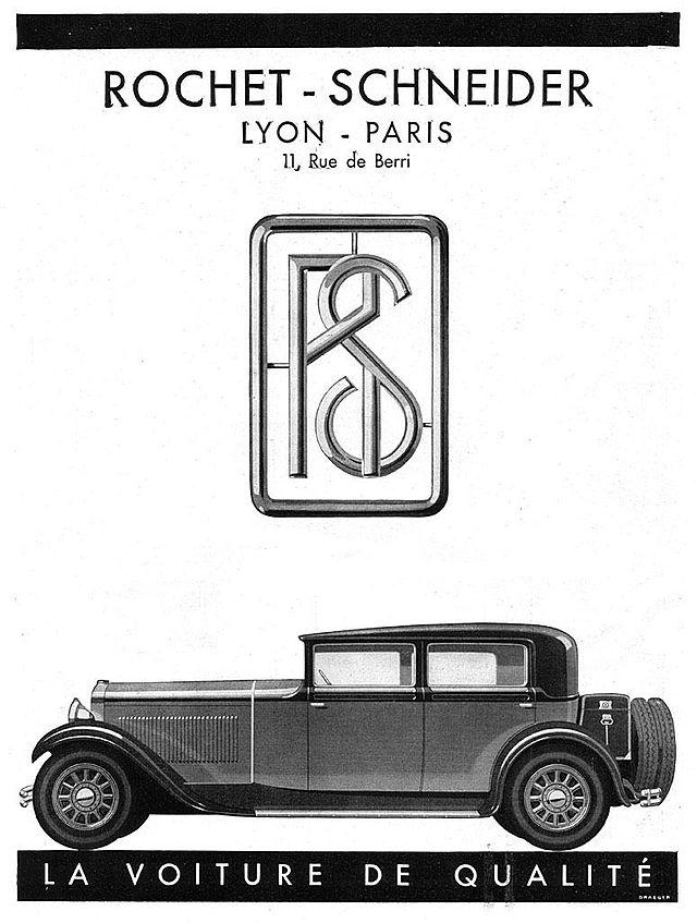 1930 Rochet-Schneider-ad