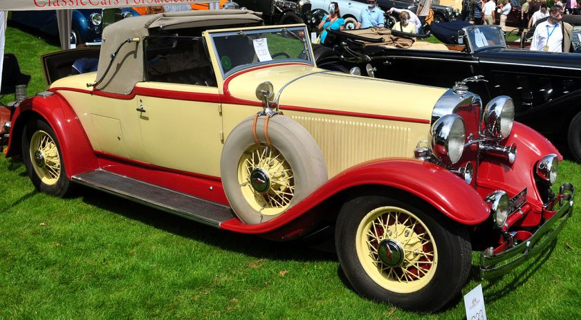 1931 Lincoln K-series LeBaron convertible coupe
