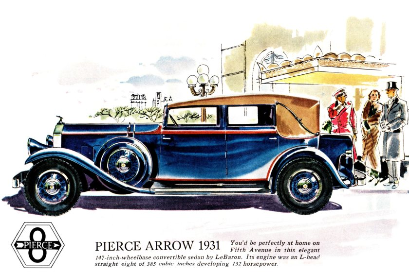 1931 Pierce Arrow Sedan Maroon