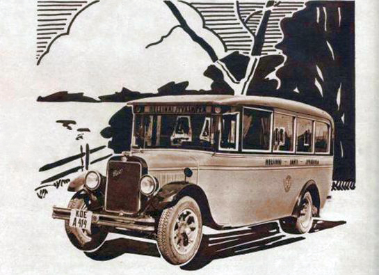 1931 REO bus graphic