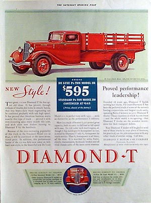 1933 Diamond t model 211 deluxe chassis 15ton 595 US Dorigcena Bay