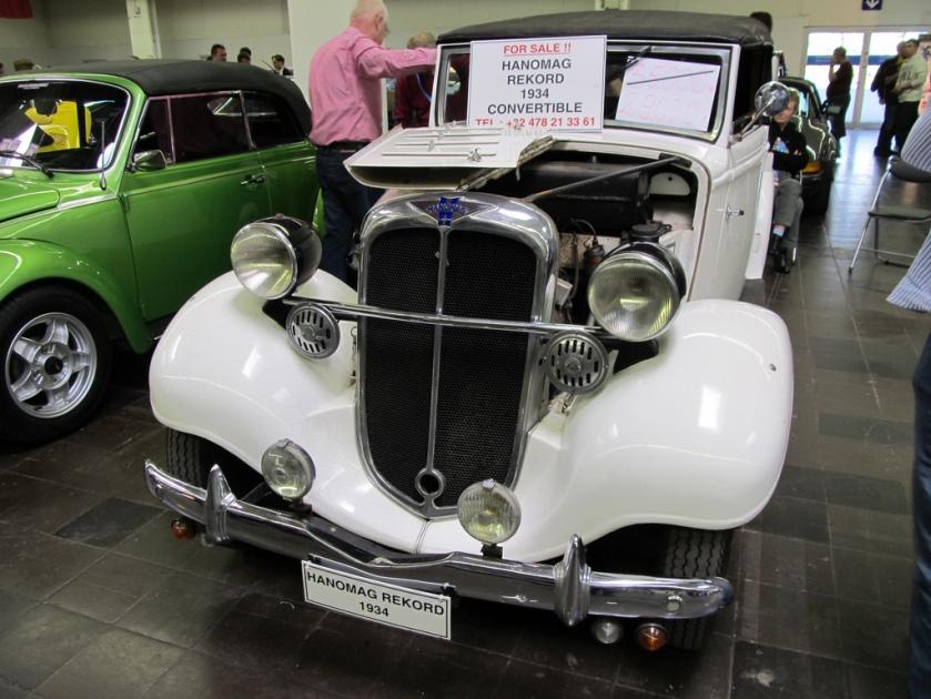 1934 Hanomag Rekord 1934 Convertible