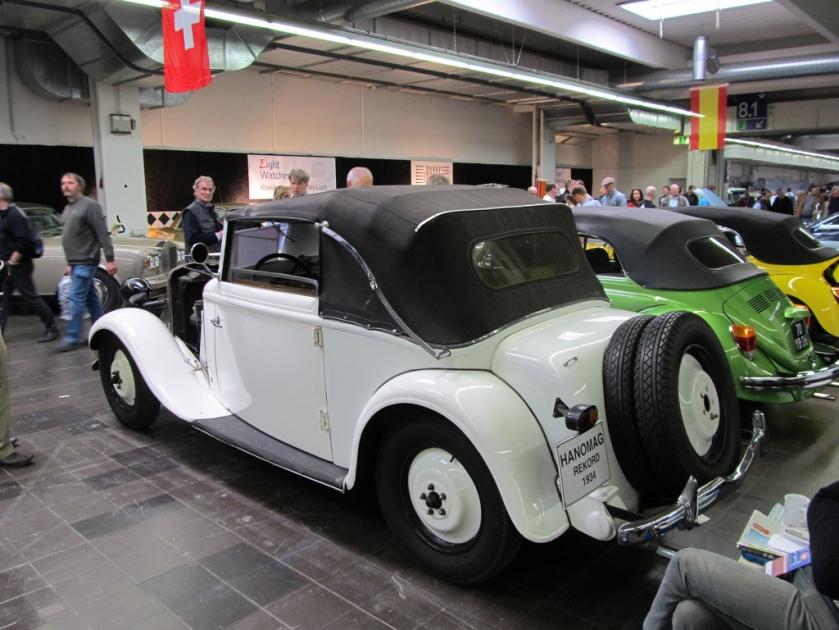 1934 Hanomag Rekord Cabrio