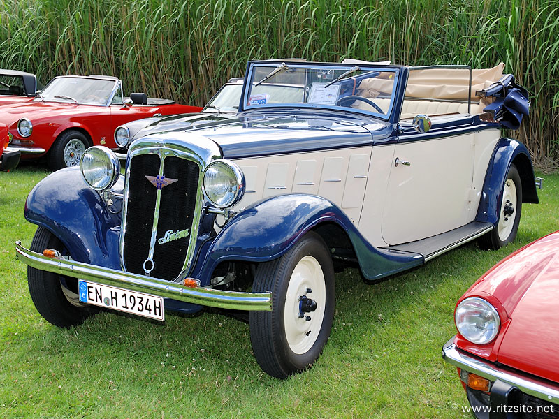 1934 Hanomag Sturm - 2-window cabriolet body by Ambi-Budd