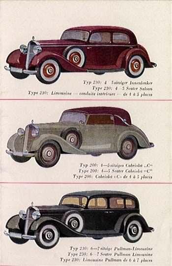 1934 Mercedes Benz 170H serie W29