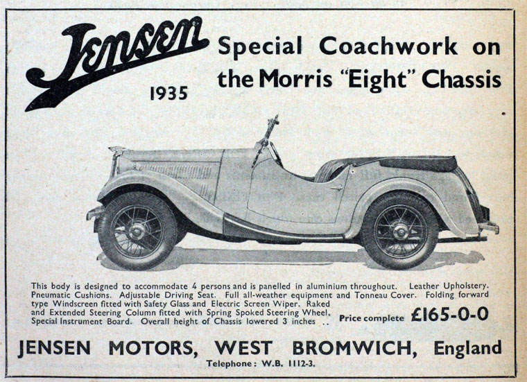 Jensen Motors Ltd West Bromwich England Uk Myn