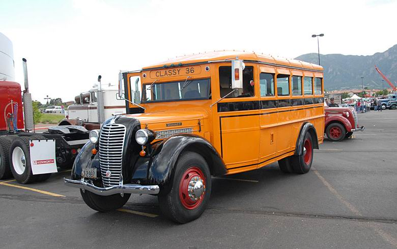 1936 Diamond T 212 bus owned by John Miles