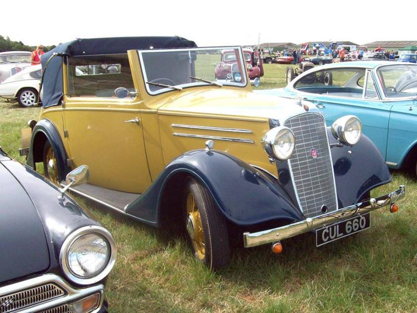 1936 Vauxhall Light Six DHC DY-DX