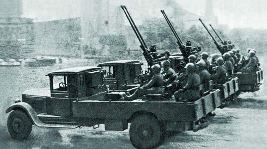 1936 ZIS-12 chassis Flak artillery