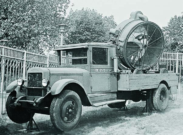 1937 ZIS-12 chassis Z-15-4 searchlight