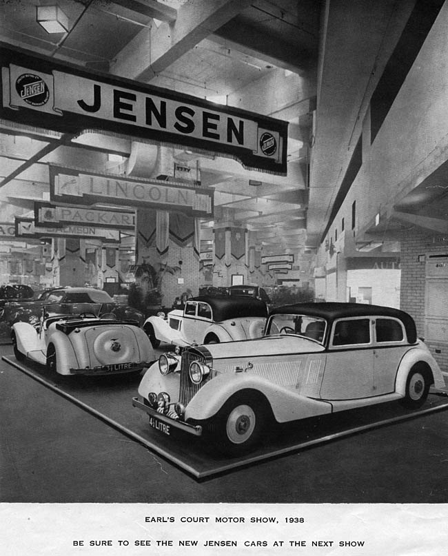 1938 Jensen were showing the 3.5 Litre and the new, upmarket 4¼ Litre models