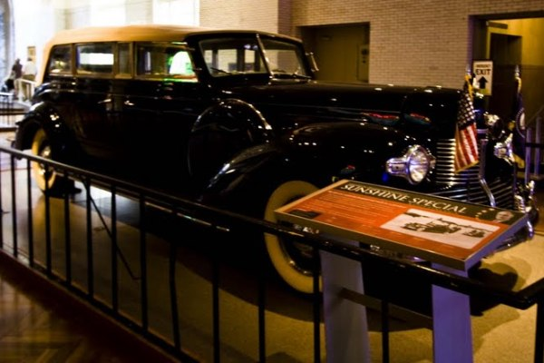 1939 The Sunshine Special on display at the Henry Ford Museum.