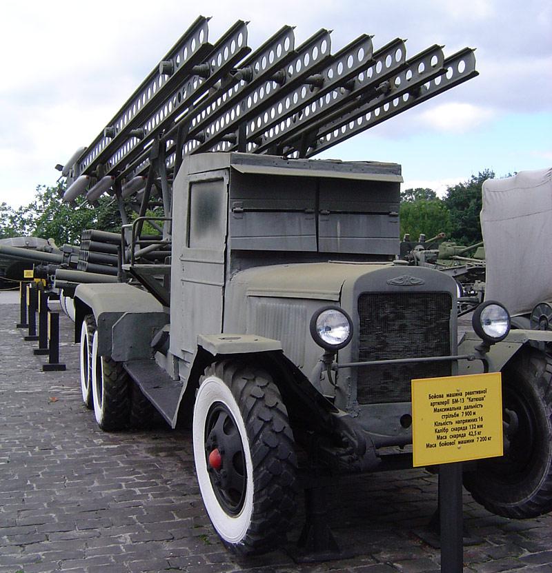 1939 ZIS-6 platformed with BM-13 Katyusha battery front
