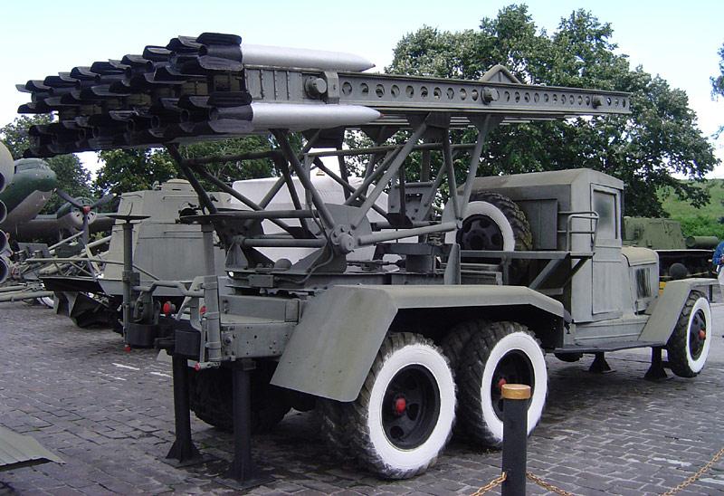 1939 ZIS-6 platformed with BM-13 Katyusha battery rear