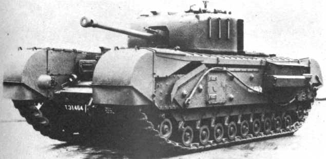 1941-45 A Mk IV Churchill tank (75mm), of which 7,368 were manufactured by Vauxhall between 1941 and 1945
