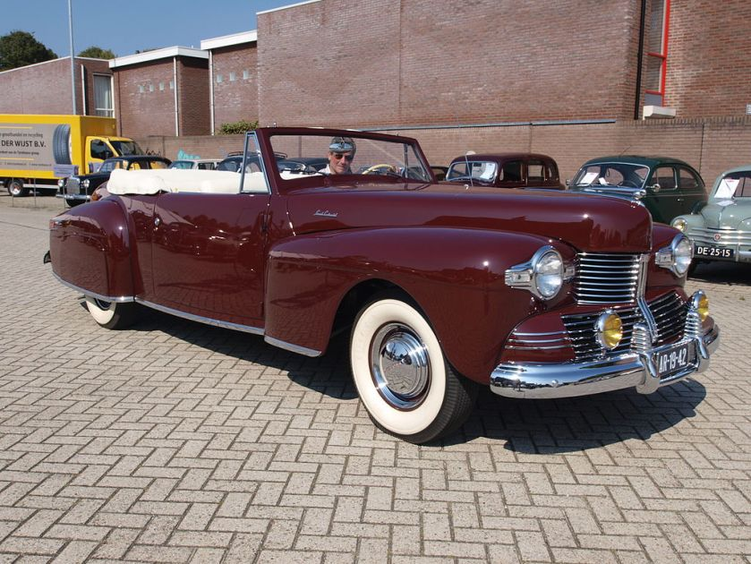1942 Lincoln Continental convertible front exterior view
