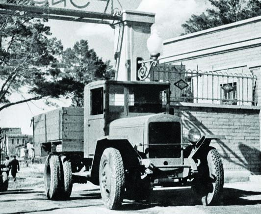 1944 ZIS-5 truck manufactured by Ural autoworks