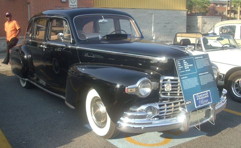 1948 Lincoln V12 photographed in Montreal, Quebec, Canada at A&W St-Léonard.