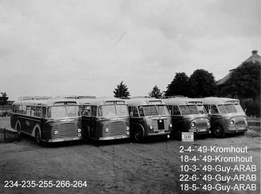 1949 ZABO Kromhout x twee + ZABO GUY ARAB x drie