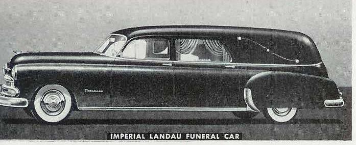 1951 Chevrolet National Imperial Series Landau Funeral Car 1951