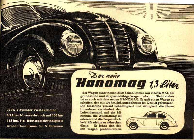 1951 Hanomag Autobahn Anzeige Hanomag-Partner