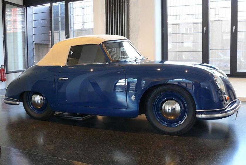 1951 Porsche 356 blue Gläser Cabriolet