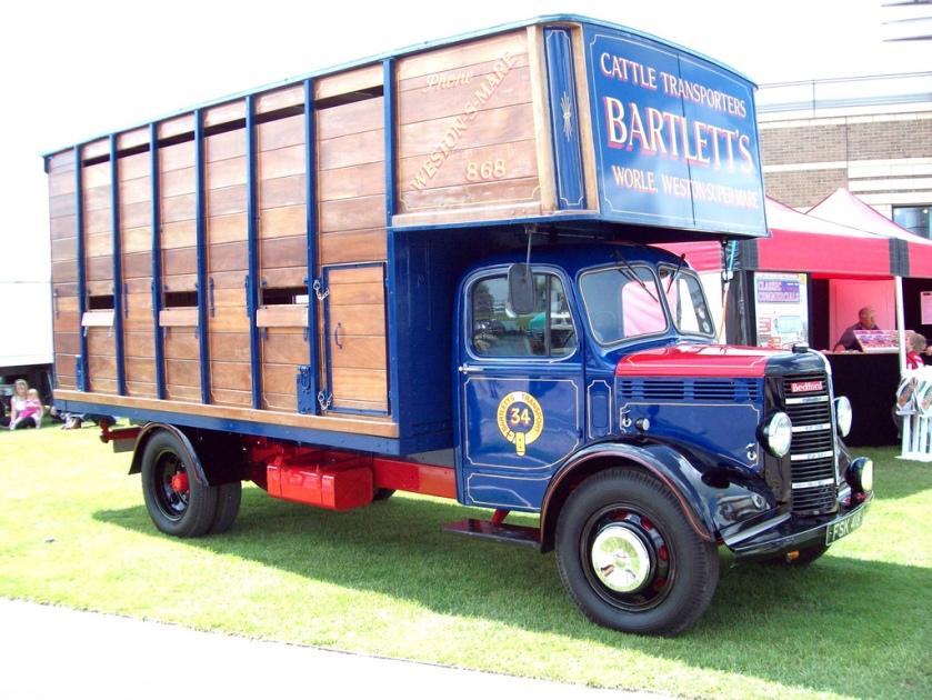 1952 Bedford OL Livestock Van Engine 2800cc Registered FSK 418