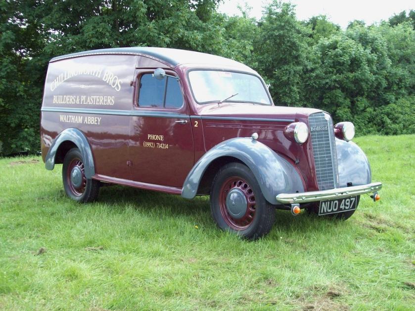 1952 Bedford PCV Van Engine 1525cc Registration NUO 497