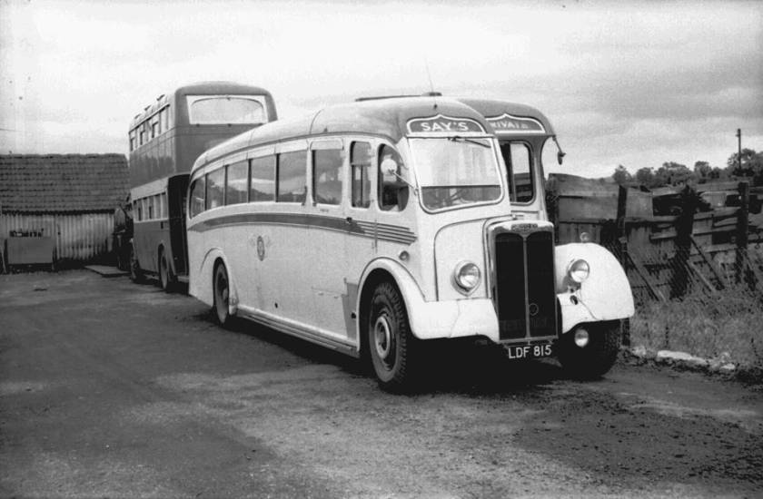 1952 Yeates C37F bodied Crossley SD42-9A, LDF815