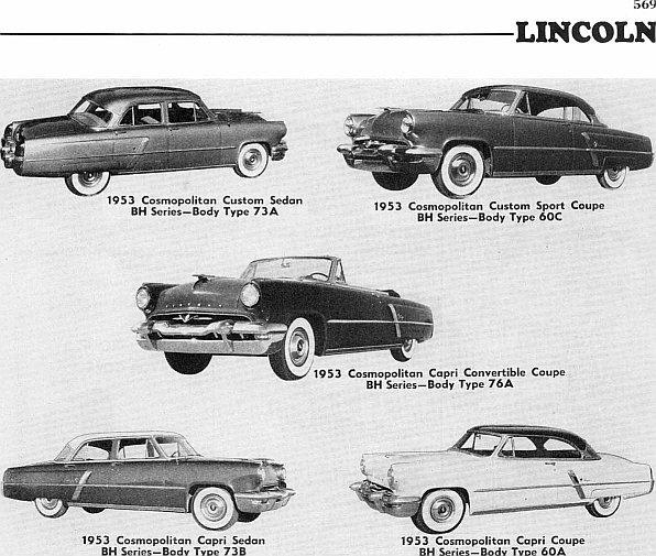 1953 Lincoln ad