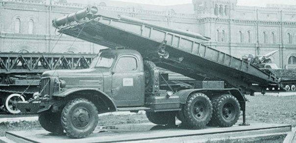 1955 ZIS-151А chassis, 6x6 КММ mechanical bridge