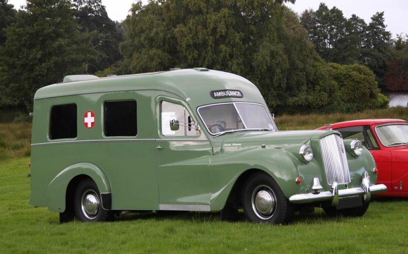 1956 Austin Sheerline Lomas Ambulance front