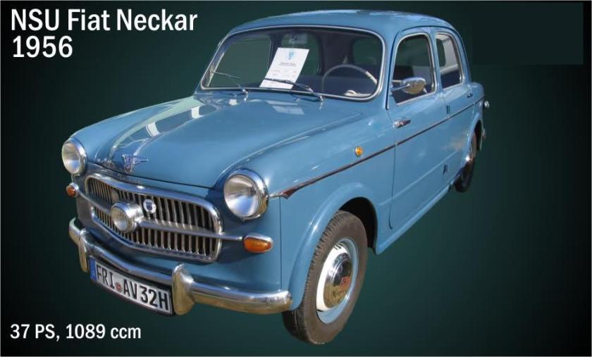 1956 NSU FIAT Neckar 1089cc 27ps
