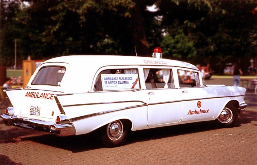 1957 CHEVROLET ONE-FIFTYAMBULCEWHITE4