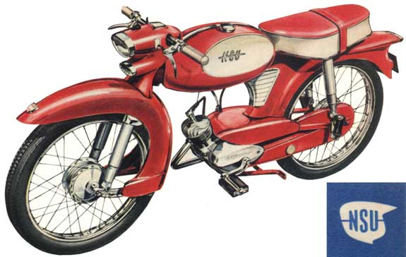 1957 Nsu Quickly Motorcycle Motor