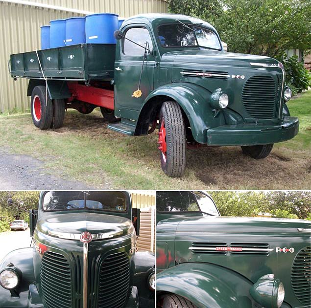 1957 REO pick up green