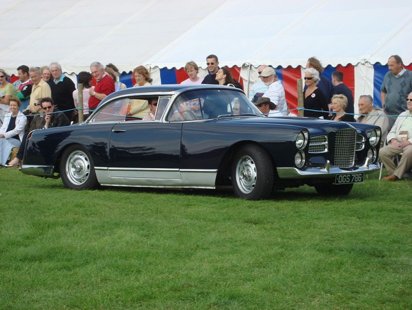 1958-61 Facel Vega HK 500, french sportscar, at a Suffolk Motor show