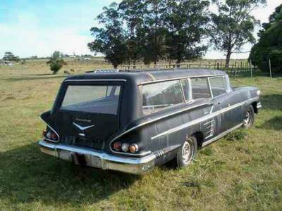 1958 Chevy 2-door wagon-hearse